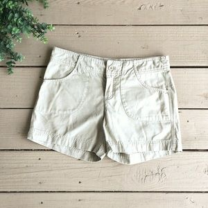 The North Face khaki shorts size small petite
